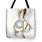 Gold And Pearl Tote Bag