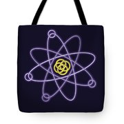 Gold And Silver Line Atomic Structure Tote Bag