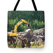 Gold At The End Of The Rainbow Along Taylor Highway-ak Tote Bag