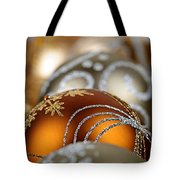 Gold Christmas Ornaments Tote Bag