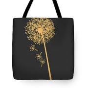 Gold Dandelion Tote Bag