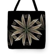 Gold Floral Abstract Tote Bag
