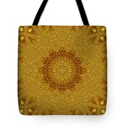 Gold Flowers Tote Bag
