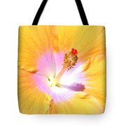 Gold Hibiscus Tote Bag