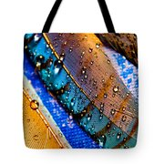 Gold Jay Feathers Tote Bag