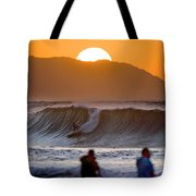 Gold Kaena Sunset Tote Bag