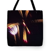 Gold Leafy Firework Tote Bag