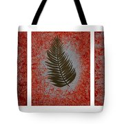 Gold Leaves On Orange Triptych Tote Bag