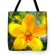 Gold Medallion Flower Tote Bag