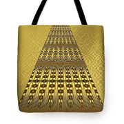 Gold Metallic 9 Tote Bag