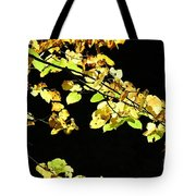 Gold On Black Tote Bag