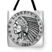Gold Quarter Eagle Tote Bag