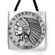 Gold Quarter Eagle Tote Bag by Fred Larucci