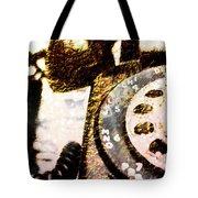 Gold Rotary Phone Tote Bag