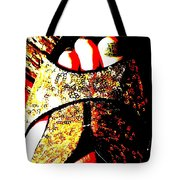 Gold Shoe Tote Bag