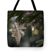 Gold Star Christmas Tree Ornament 4 Of 4 Tote Bag