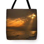 Gold Through The Clouds Tote Bag