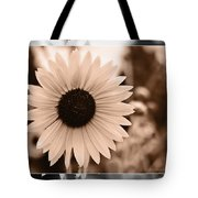 Gold Tone Sunflower Tote Bag