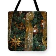 Gold Tones Tree Tote Bag