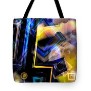 Golden And Blue Tote Bag