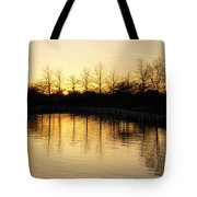 Golden And Peaceful - A Sunset On Lake Ontario In Toronto Canada Tote Bag