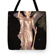 Golden Angel In The Night Tote Bag