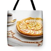 Golden Apple Tart And Coffee Cup Tote Bag