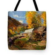 Golden Autumn In Vithkuq Korce Tote Bag