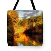 Golden Autumn Tote Bag by Joann Vitali