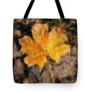 Golden Autumn Maple Leaf Filtered Tote Bag