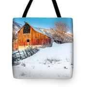 Golden Barn At Sunrise Tote Bag