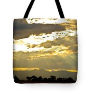 Golden Beams Of Sunlight Shining Down Tote Bag