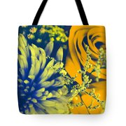 Golden Blossoms Pop Art Tote Bag