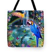 Golden Bluebirds Paradise Version 2 Tote Bag