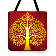 Golden Bodhi Tree No.1 Tote Bag