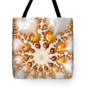 Golden Brown And White Luxe Abstract Art Tote Bag