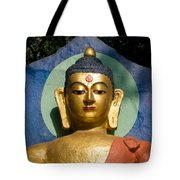 Golden Buddha Tote Bag by Nila Newsom