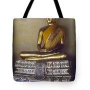 Golden Buddha On Pedestal Tote Bag