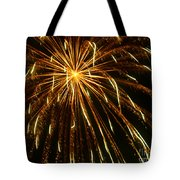 Golden Burst Tote Bag