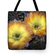 Golden Cactus Flowers  Tote Bag