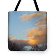 Golden Cascade Tote Bag