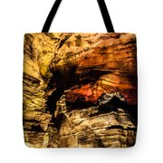 Golden Caverns Tote Bag