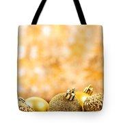 Golden Christmas  Tote Bag