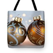 Golden Christmas Ornaments Tote Bag by Elena Elisseeva