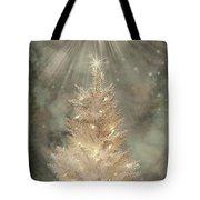 Golden Christmas Tree Tote Bag