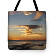 Golden Clouds And Blue Sky Tote Bag