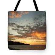Golden Clouds At Grand Anse Tote Bag