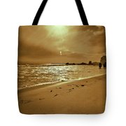 Golden Coast Sunset Tote Bag