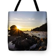 Golden Coastal Sunset Light Tote Bag