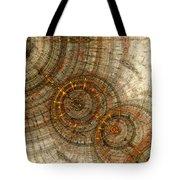 Golden Cogwheels Tote Bag
